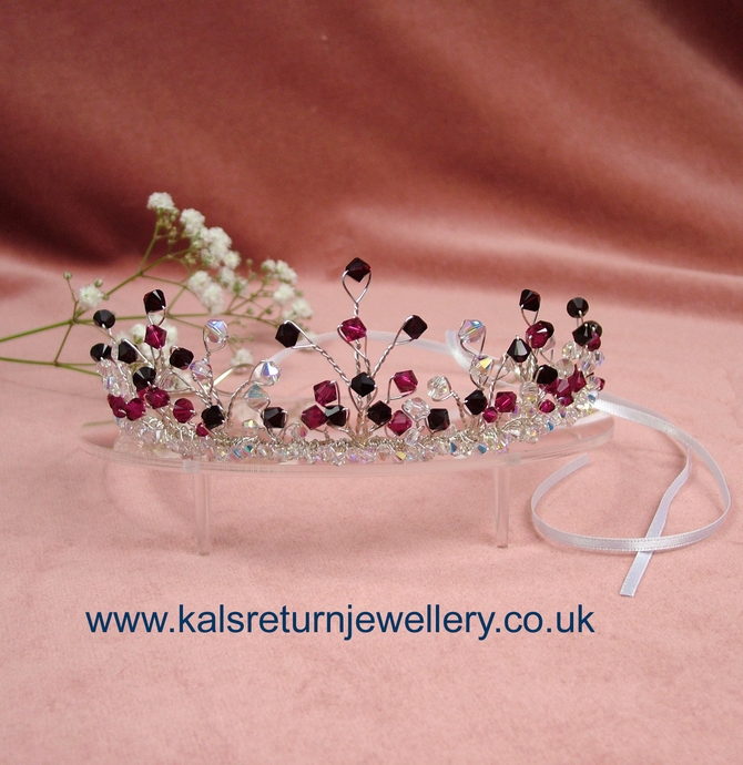 Garnet and Ruby red Swarovski crystal tiara