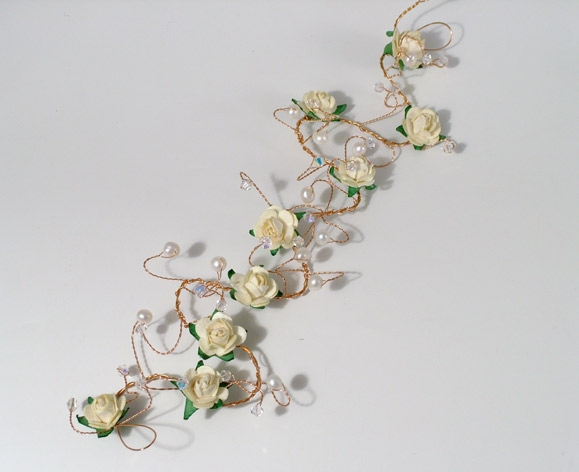 Hair vines with matching ribbon