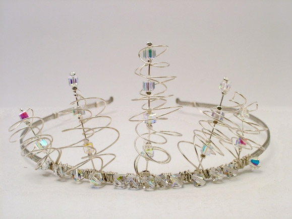 Silver Tiara with Swarovski crystals