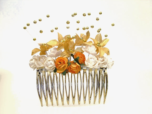 Wedding / Prom hair slides, comb with Swarovski crystals in your colours.