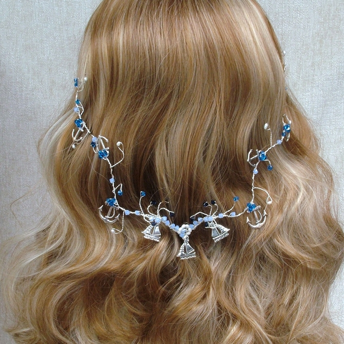 Nautical hair vine 2