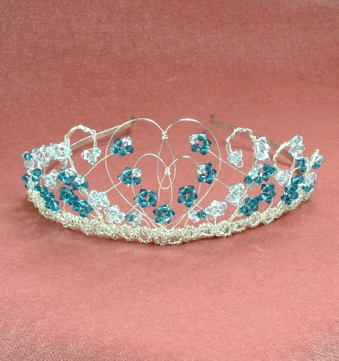 Silver heart shaped tiara