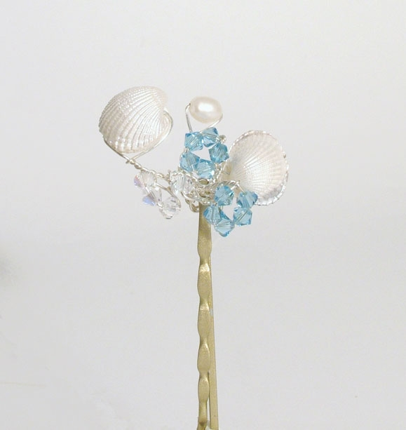 Sea Shell Wedding / Prom Hair Grip