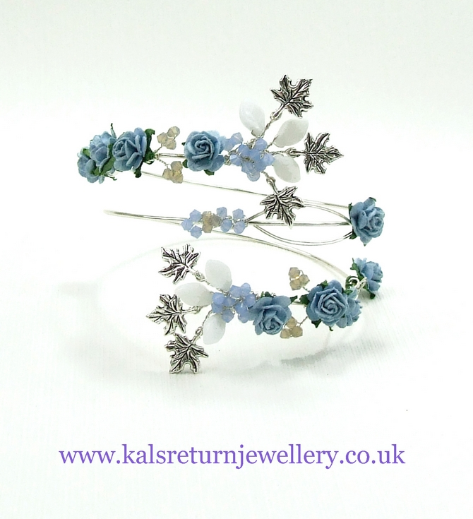 Blue rose upper arm cuff