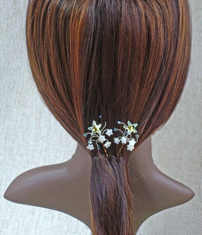 Sea shell hair grips