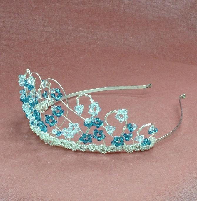 Silver heart shaped tiara